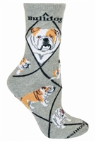 Bulldog Novelty Socks SaltyPaws.com