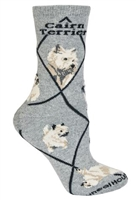 Cairn Terrier Novelty Socks SaltyPaws.com