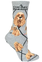 Cocker Spaniel Novelty Socks SaltyPaws.com