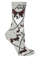 Corgi Cardigan Novelty Socks SaltyPaws.com