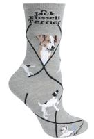 Jack Russell Terrier Novelty Socks SaltyPaws.com