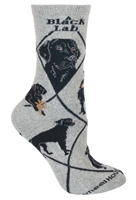 Labrador Retriever Black Novelty Socks SaltyPaws.com