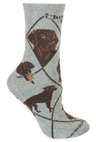 Labrador Retriever Chocolate Novelty Socks SaltyPaws.com