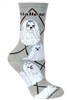 Maltese Show Cut Novelty Socks SaltyPaws.com