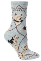 Norwich Terrier Novelty Socks SaltyPaws.com