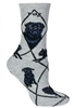 Black Pug Novelty Socks SaltyPaws.com