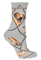 Rhodesian Ridgeback Novelty Socks SaltyPaws.com
