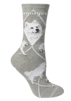 Samoyed Novelty Socks SaltyPaws.com