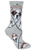 Saint Bernard Novelty Socks SaltyPaws.com