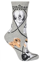 Tibetan Terrier Novelty Socks SaltyPaws.com