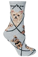 Yorkshire Terrier Puppy Cut Novelty Socks SaltyPaws.com