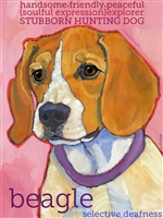 Beagle Artistic Fridge Magnet SaltyPaws.com