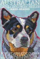 Australian Cattle Dog Blue Heeler Artistic Fridge Magnet SaltyPaws.com
