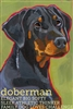 Doberman Pinscher Uncropped Artistic Fridge Magnet SaltyPaws.com