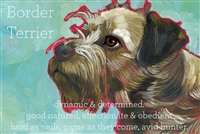 Border Terrier Artistic Fridge Magnet SaltyPaws.com
