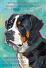 Greater Swiss Mountain Dog Artistic Fridge Magnet SaltyPaws.com