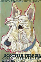 Scottish Terrier Wheaten Artistic Fridge Magnet SaltyPaws.com