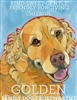 Golden Retriever Artistic Fridge Magnet SaltyPaws.com