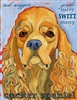 Cocker Spaniel Buff Artistic Fridge Magnet SaltyPaws.com