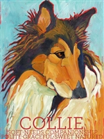 Collie Artistic Fridge Magnet SaltyPaws.com