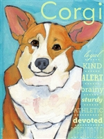 Corgi Red & White Artistic Fridge Magnet SaltyPaws.com