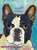 French Bulldog Black And White Artistic Fridge Magnet SaltyPaws.com