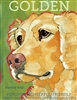 Golden Retriever Profile Artistic Fridge Magnet SaltyPaws.com