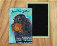Gordon Setter Profile Artistic Fridge Magnet SaltyPaws.com