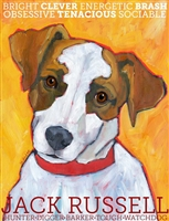 Jack Russell Terrier Brown & White Artistic Fridge Magnet SaltyPaws.com