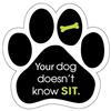 Your Dog Doesn't Know Sit Paw Magnet for Car or Fridge