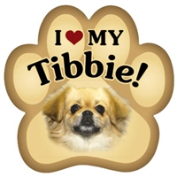 Tibbie Paw Magnet for Car or Fridge