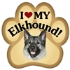 Elkhound Paw Magnet for Car or Fridge