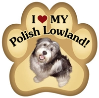Polish Lowland Paw Magnet for Car or Fridge