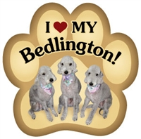 Bedlington Paw Magnet for Car or Fridge