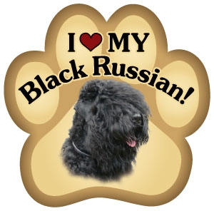 Black Russian Paw Magnet for Car or Fridge