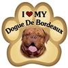 Dogue De Bordeaux Paw Magnet for Car or Fridge