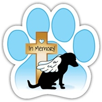 Memorial Dog Magnet for Car or Fridge