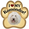 Komondor Paw Magnet for Car or Fridge