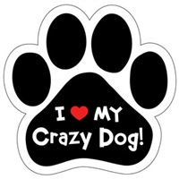 Crazy Dog Paw Magnet for Car or Fridge