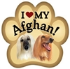 Afghan Hound Paw Magnet for Car or Fridge