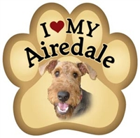 Airedale Paw Magnet for Car or Fridge
