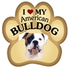 American Bulldog Paw Magnet for Car or Fridge
