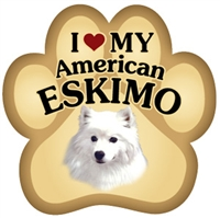 American Eskimo Paw Magnet for Car or Fridge
