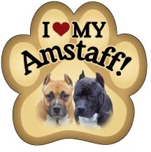 American Staffordshire Paw Magnet for Car or Fridge
