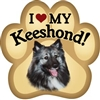 Keeshond Paw Magnet for Car or Fridge