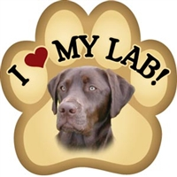 Chocolate Lab Paw Magnet for Car or Fridge