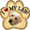 Yellow Lab Paw Magnet for Car or Fridge