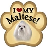 Maltese Paw Magnet for Car or Fridge