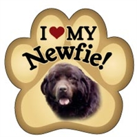 Newfie Paw Magnet for Car or Fridge