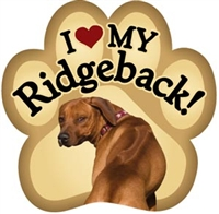 Rhodesian Ridgeback Paw Magnet for Car or Fridge